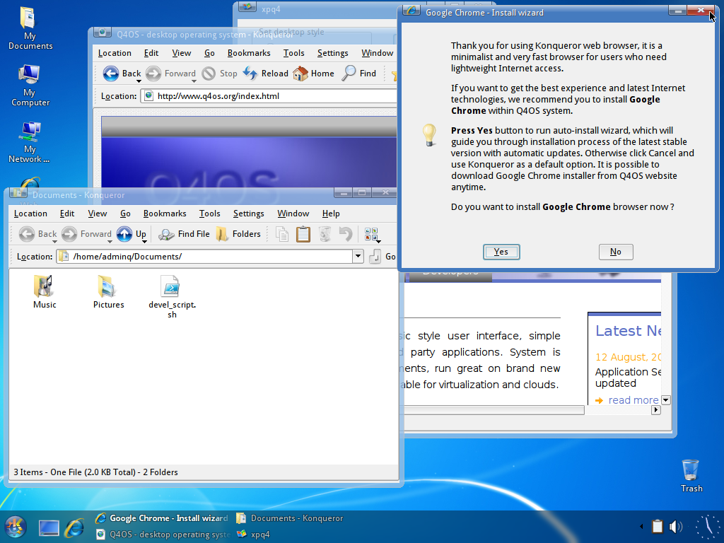 XPQ4 - Windows look'n feel for your Q4OS desktop